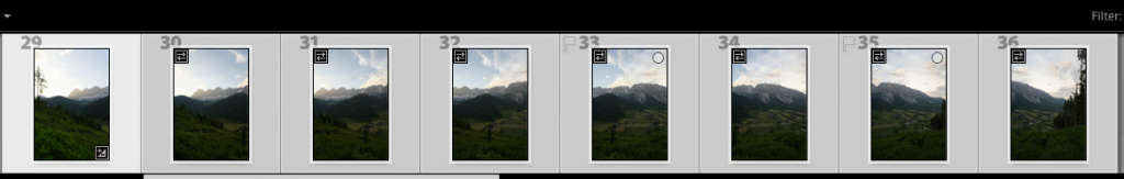 Einzelbilder in Lightroom
